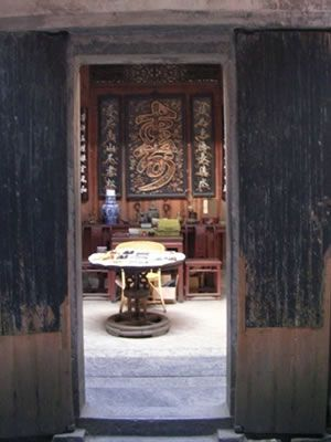 The interiors of the houses are set up as they were during China's last  Imperial Dynasties