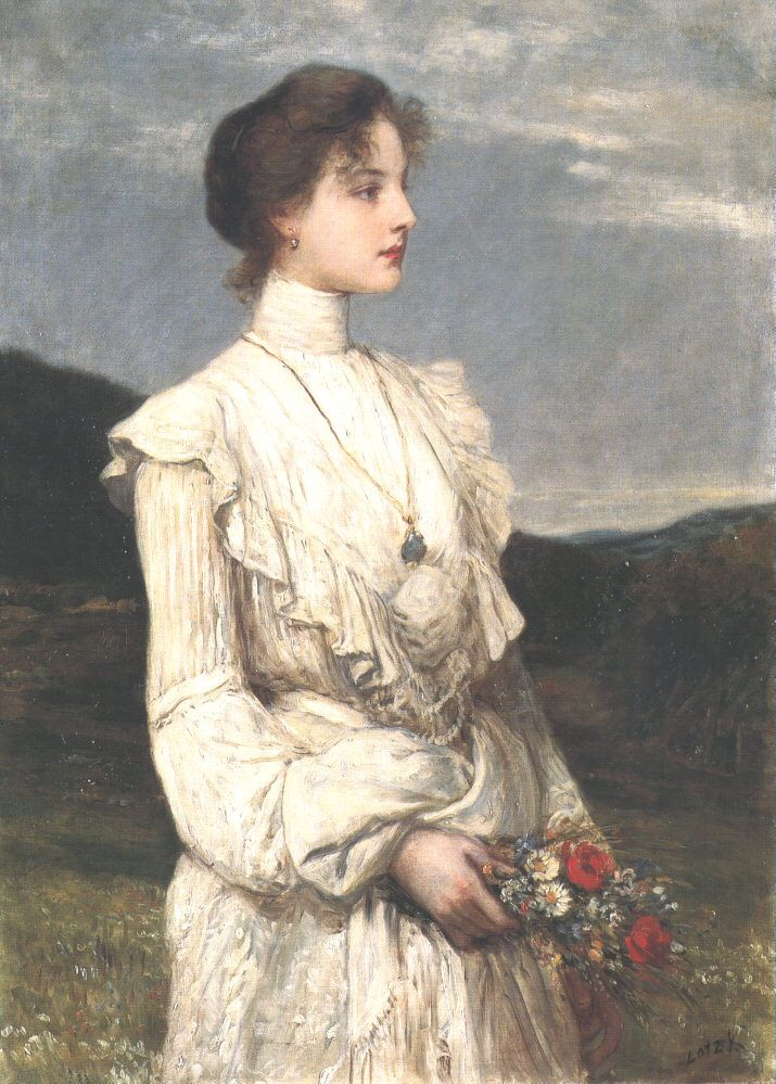 Károly Lotz (1833-1904) Soring, Portrait of Ilona Lippich 1894 - Lotz Károly (festő) – Wikipédia  (Tavasz, Lippich Ilona portréja)