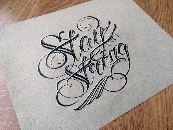 Best razenkov lettering tattoo images on pinterest