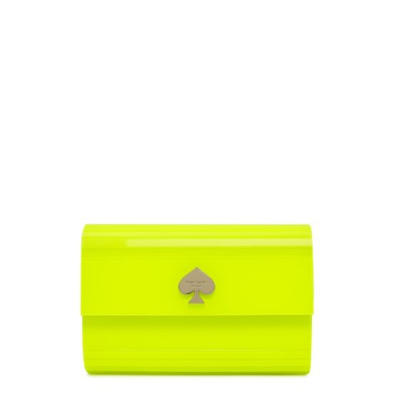 obsessed with this @kate spade new york clutch!: Neon Clutch, Yellow Clutch, Neon Colors, Dresscolor Day Glo