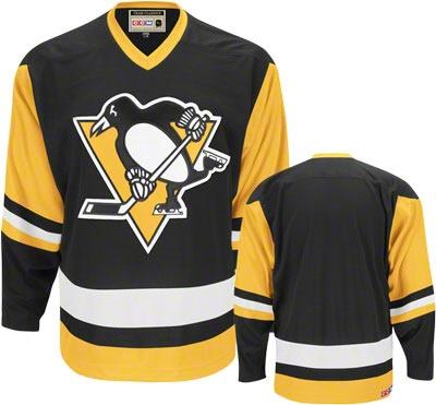 Pittsburgh Penguins Black Reebok Team Classic Throwback Jersey #penguins #nhl #pittsburgh