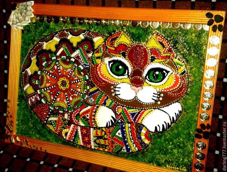 Купить Кот Денежный. Работающий талисман. - разноцветный, денежный кот, денежный талисман, денежный