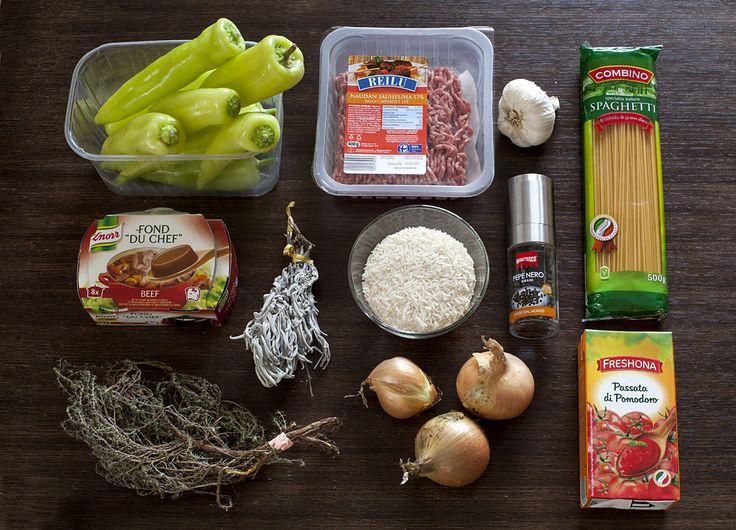 stuffed paprika ingredients