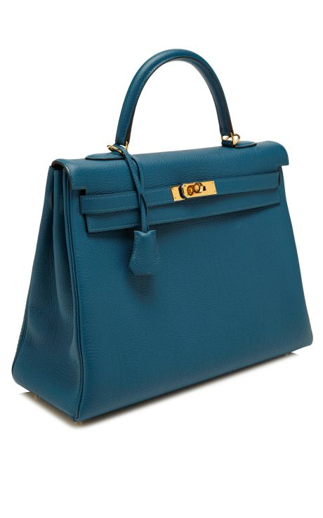 35Cm Blue De Galice Togo Leather Retourne Kelly by Heritage Auctions Special Collections for Preorder on Moda Operandi