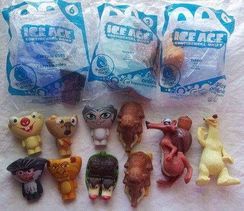 McDonalds Ice Age Figure Lot 12 Manny Scrat Sid Diego ...  McDonalds Ice A...