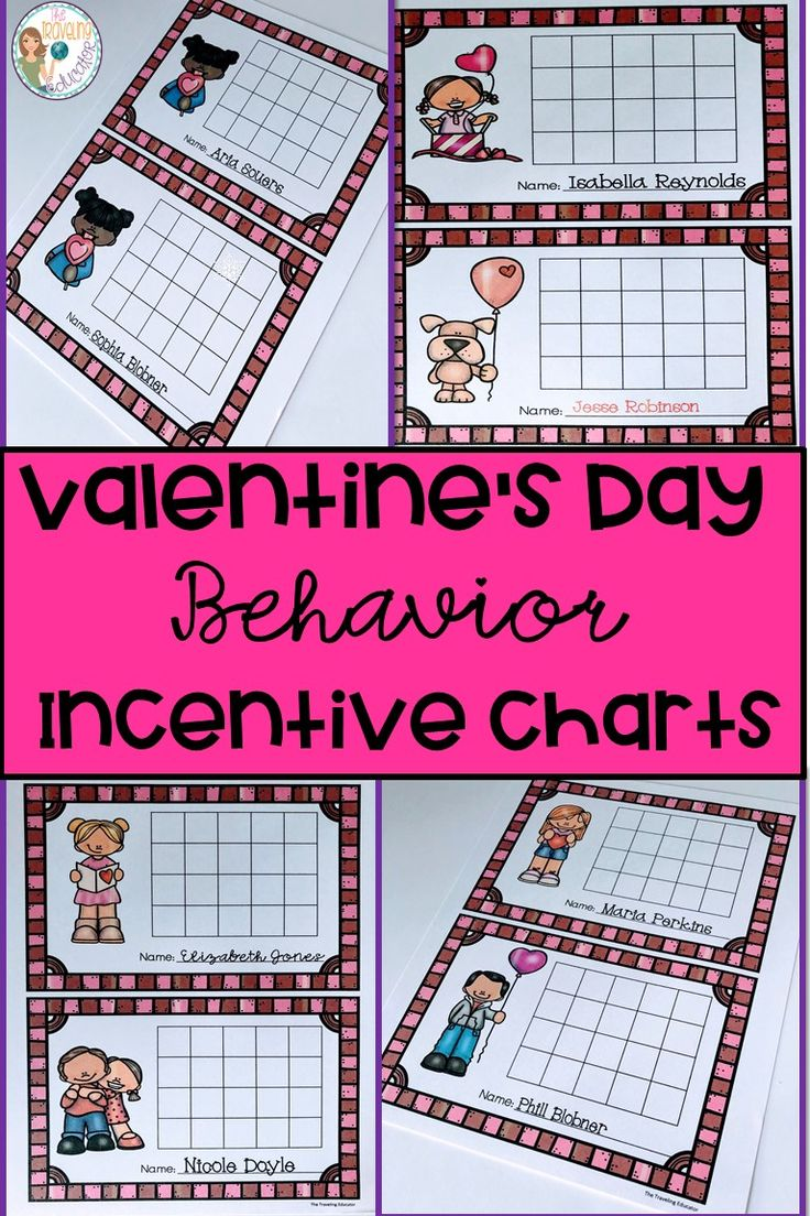 Promote good classroom behavior with these Valentine's Day Behavior Incentive Charts!  Students in kindergarten through 2nd grade will love these incentive charts to earn rewards in the classroom.  Students earn stickers for positive behavior in the classroom.  Each time a student earns 5 stickers in a row, he or she earns a prize or a reward.  Students will be good in no time with these incentive charts.  Click here for these easy prep  incentive charts. #Valentine's Day #positive #behavior