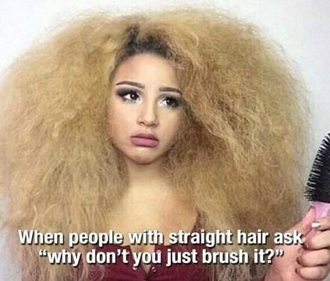 Not really understanding why people think a hair brush can solve all of your problems.