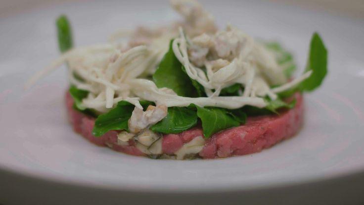 Recepten - Rundertartaar met oesters, knolselder en waterkers