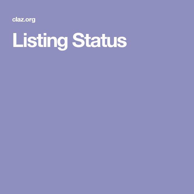 Listing Status