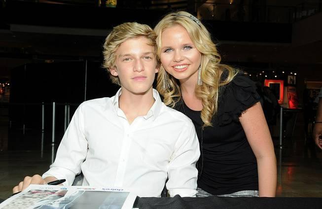 Australian singer Pop singer, Cody Simpson (age 15) and his sister, Alli Simpson (age 13).