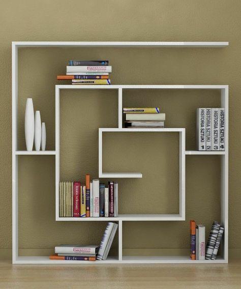 étagère en forme de spirale cool pour y ranger les livres et les petits objets décoratifs
