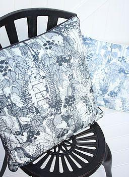 handmade secret garden cushion 20/20' by amy allwright homeware | notonthehighstreet.com