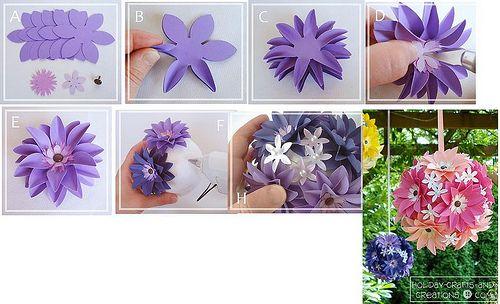 Enfeites de flores de papel decoracion de fiestas celebraciones eventos  Paper flowers DIY wedding celebrations parties quinceanera decor