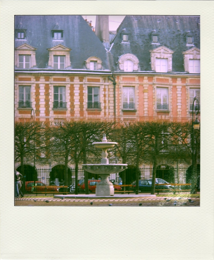 I would have an apartment overlooking the Place des Vosges