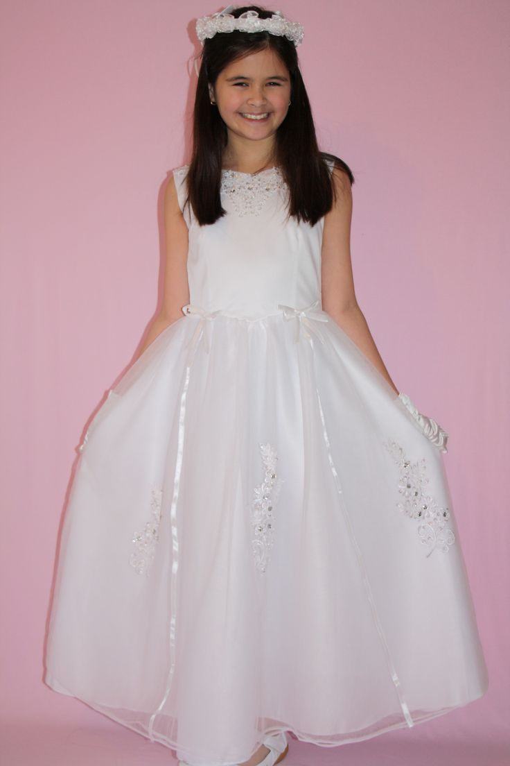 Beautiful First Communion/Flower Girl Dress. http://www.silknsatincommuniondresses.com.au