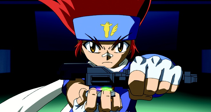 Gingka Hagane, the main character in the Beyblade Metal ...