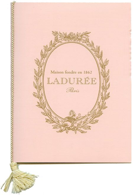 Laduree menu