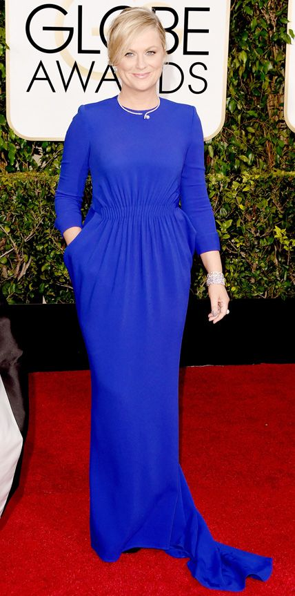 Amy Poehler in Stella McCartney at the Golden Globes 2015 | #redcarpet #GoldenGlobes #redcarpetfashion