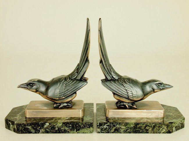 Superior Maurice Frecourt Art Deco Bookends