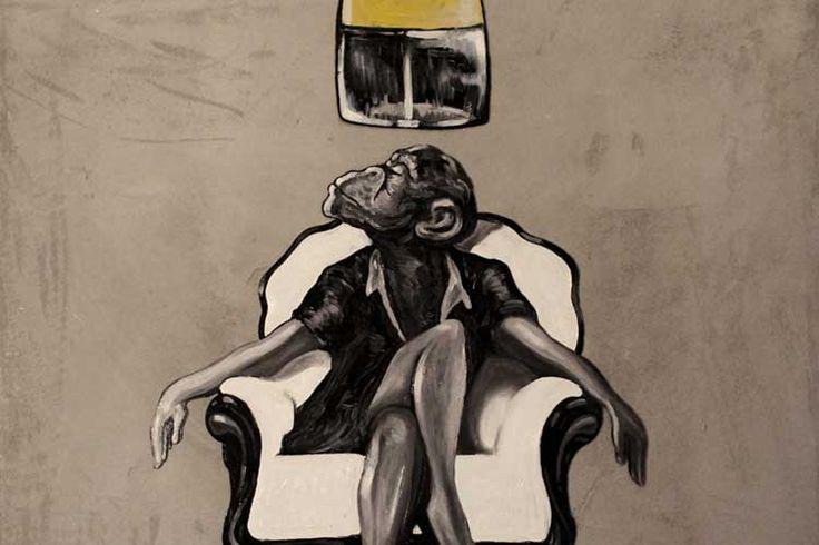 Simone Fugazzotto Art Backers #monkey #kiss #valentineday #artbackers #simonefugazzotto #heart #giftart #limitededition #print #artwork #art #LOVE