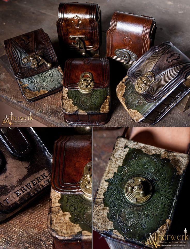 Victorian Belt Bags by Aetherwerk.deviantart.com on @deviantART