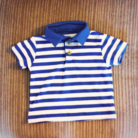 baby polo shirt with pattern
