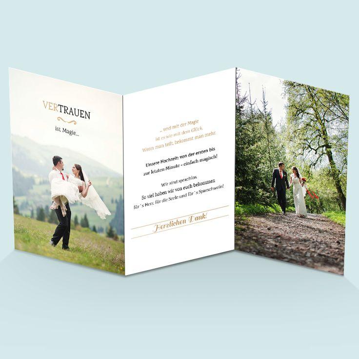 Foto-Dankeskarten zur Hochzeit: Wir trauen uns! Hochzeitskarten im Vintage-Design