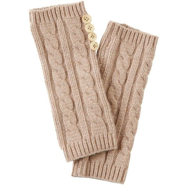 Beige cashmere blend arm warmers ($20) ❤ liked on Polyvore featuring accessories, gloves, hats, scarves, beige gloves, arm warmer gloves and joe browns