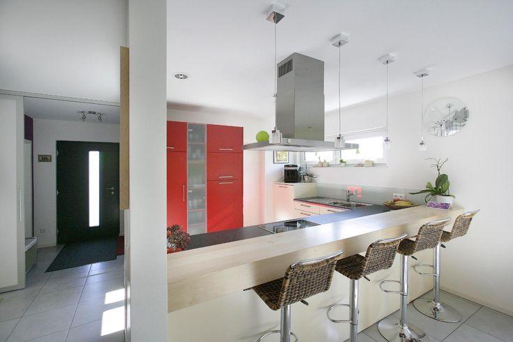Fertighaus - Wohnidee Küche #tresen #barfeelingdaheim #durchreiche - durchreiche kuche wohnzimmer modern