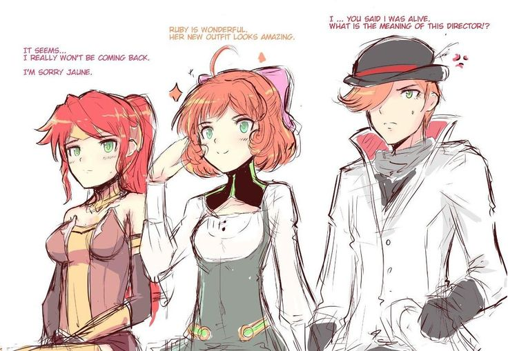RWBY the red Heads. The reds are the first to go...