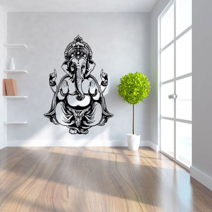 Cheap Wall Decals Stickers, Buy Quality Decal Sticker Directly From China Home  Decor Suppliers: Creative Carved Ganesh God Yoga Mandala Living Room Wall  ...