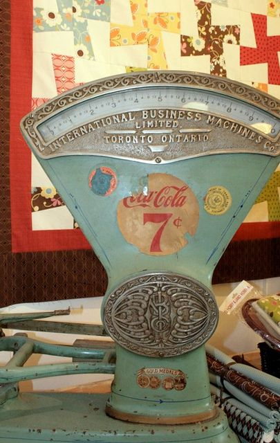 Coke scales. How cool would this be to have in the house? And how funny is it to weigh yourself for 7 cents?