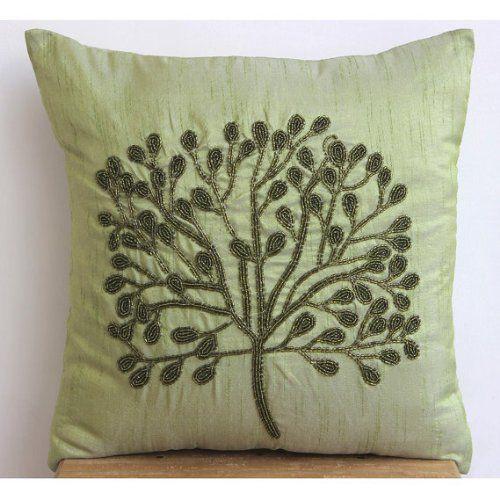 """Designer 22""""x22"""" Pillow Covers Decorative, Green Throw Pi... https://www.amazon.com/dp/B00J2CCPSM/ref=cm_sw_r_pi_dp_x_hGo1ybK9TQQJT"""