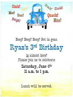 Little Blue Truck 3rd Birthday Party maison|raye