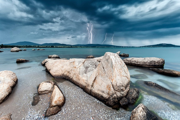 lightning, black sea bulgaria