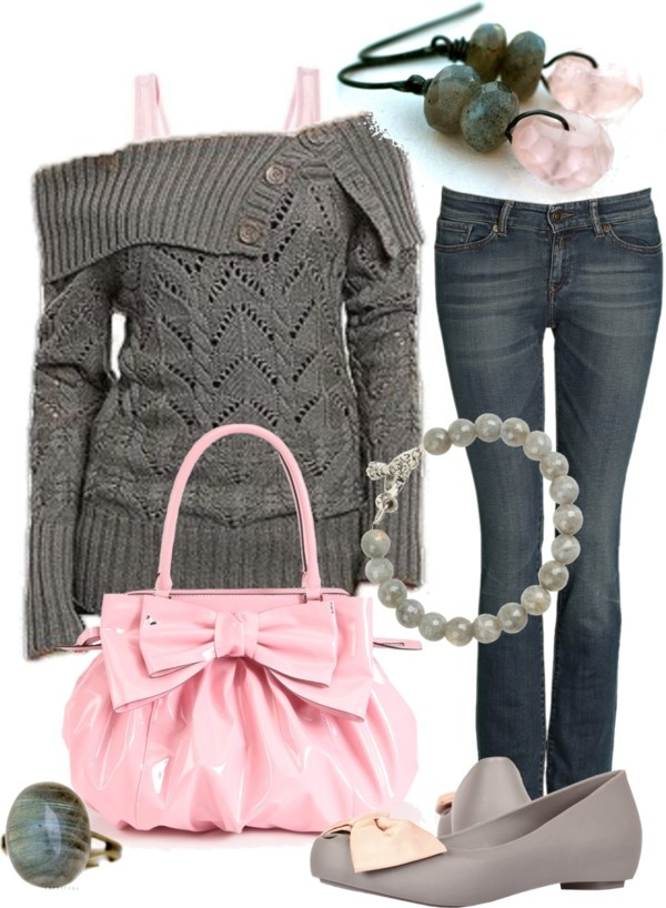 """""""Grey Labradorite & Rose Pink Quartz"""" by stay-at-home-mom on Polyvore"""