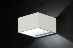 wandlamp 47221: modern, design, aluminium, wit