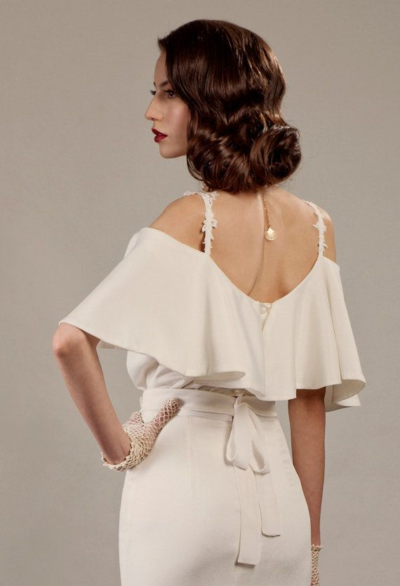 Veronica two piece unique wedding dress inspired by vintage Hollywood http://www.etsy.com/il-en/listing/155170098/veronica-two-piece-unique-wedding-dress?ref=shop_home_active