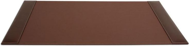 Rustic Leather 34x20 Desk Pad with Side Rails P3201 by Decasso