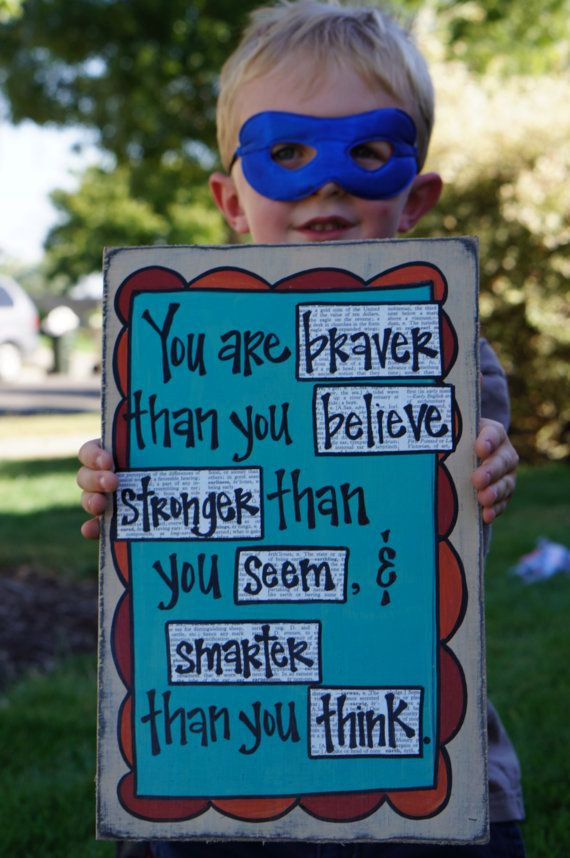 Also, for Quotes and Craft boards ;) You are braver than you believe winnie the by SlightImperfections, $26.95