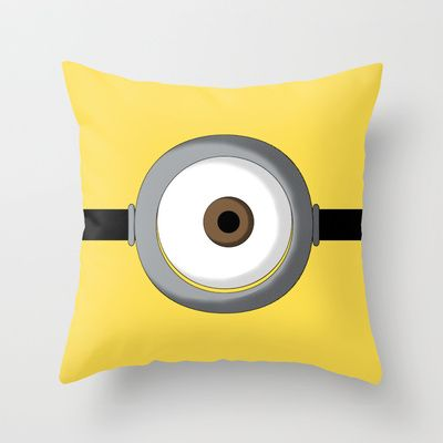 Minion Throw Pillow by Bearded Manatee - $20.00 http://society6.com/