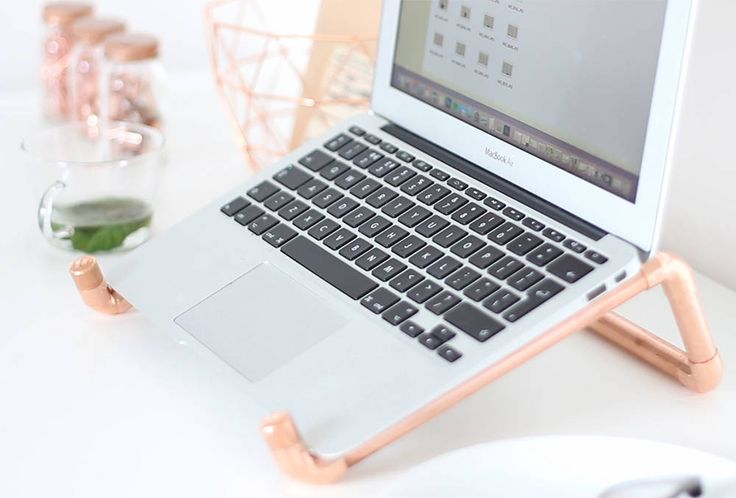 Watch this video and follow the steps to create this amazing DIY Copper Pipe Laptop Stand.
