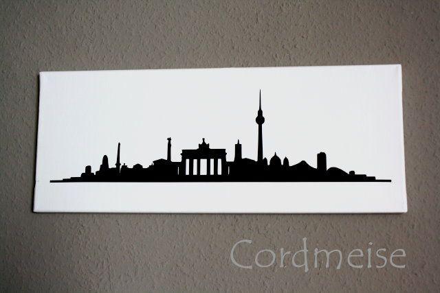 Cordmeise Wandbild Berlin http://cordmeise.blogspot.de/2014/03/selfmade-wandbild.html