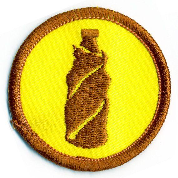 Brown Bagging Badge | Brooklyn Badges