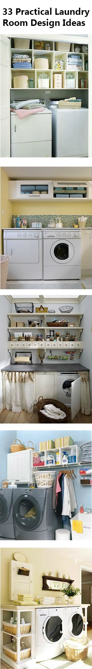 33 Really Practical Laundry Room Design Ideas