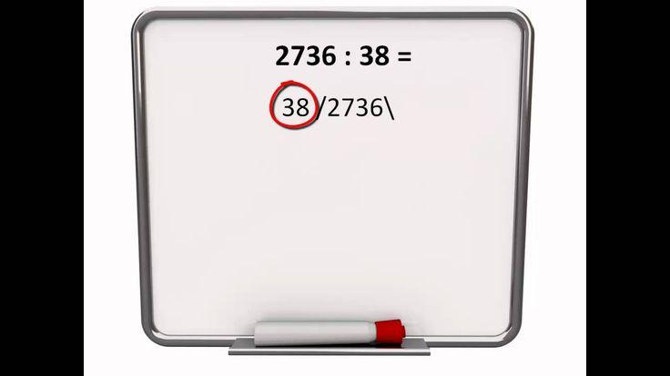 Staartdelingen zonder rest  Uitleg over het oplossen van grote deelsommen (zonder rest) met behulp van staartdelingen voor rekenen in groep 6, 7 en 8 door