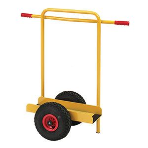 This is a trolley to help you move cumbersome boards around your workshop or warehouse. It includes rubber strips on the base to help avoid planks slipping off. Its two handles also mean that you can share it with a friend if so inclined.