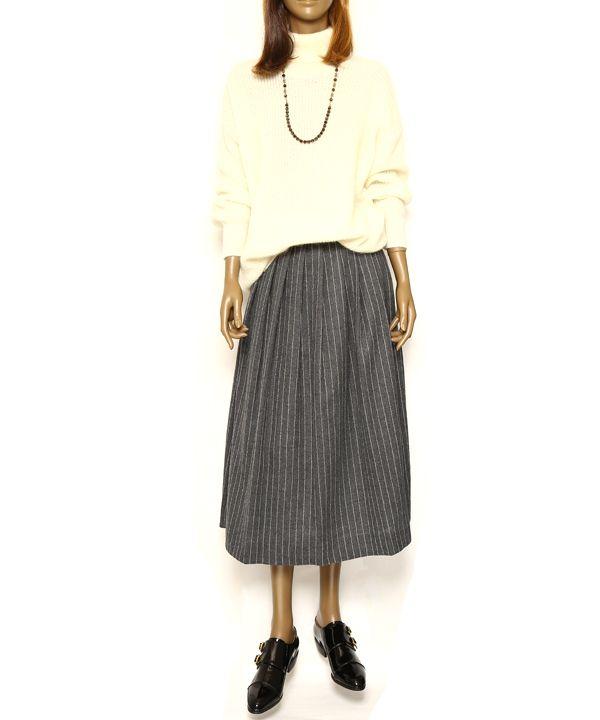 ウールフレアスカート #シータ・ミュー