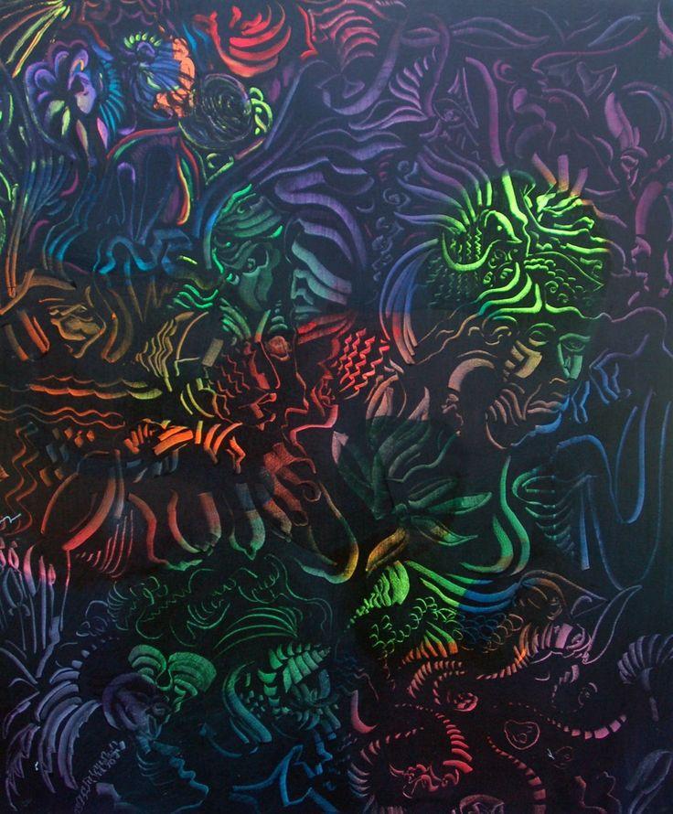 Otto Placht (b.1962), Hidden Lights - Metamorphosis (Skrytá světla - Proměny), 2013, 130 x 150 cm, acrylic.