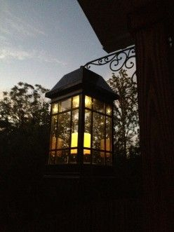 Extra large solar powered lanterns for the deck